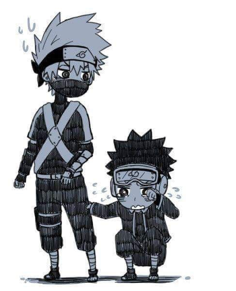Cute Kakashi and Obito