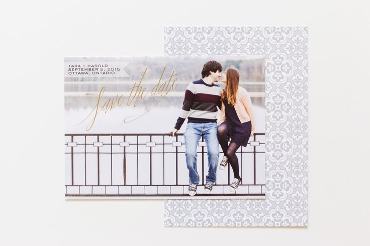 Calligraphy Save the Date Card // www.ivystripe.com