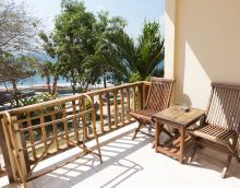 Front porch and balcony with ocean views   www.binginbungalows.com