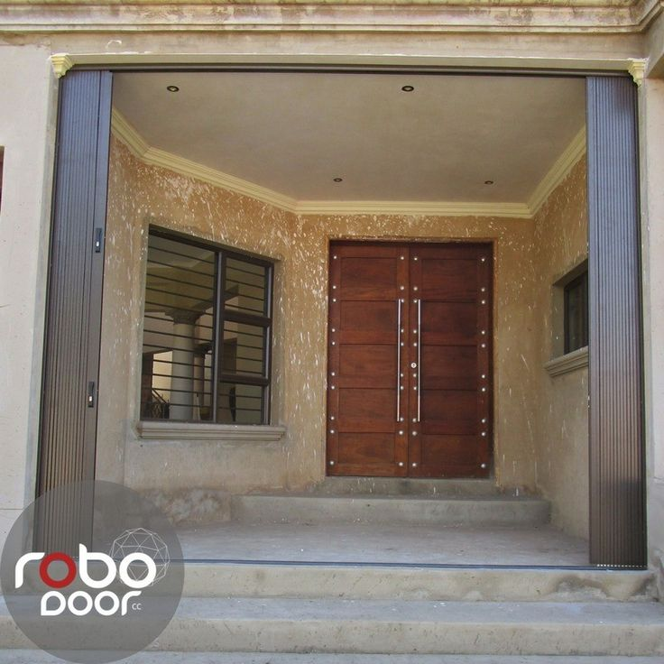 Open sliding security door by Robo Door