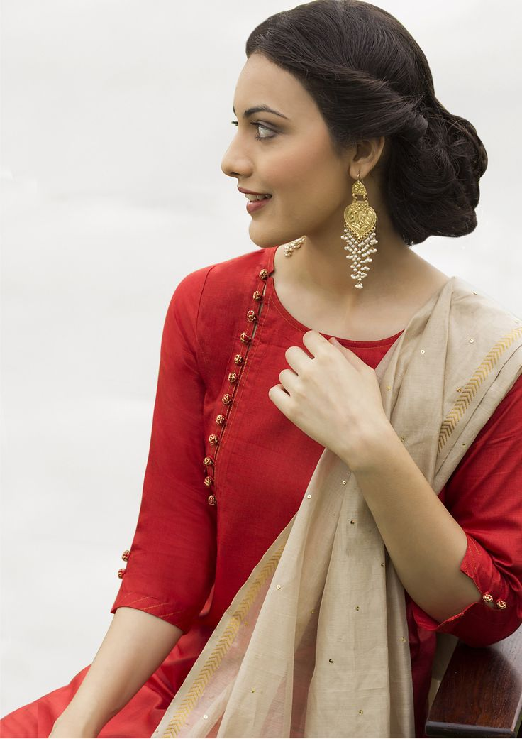 Beautiful #Desi Fashion n #Style Details. To get this made in your favourite…