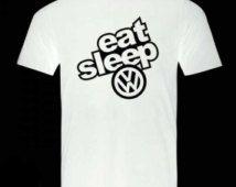 Eat sleep Volkswagen logo Tshirt,shirts online,t shirt designer,print your own t shirt,customised t shirts,create t shirt,buy t shirt online