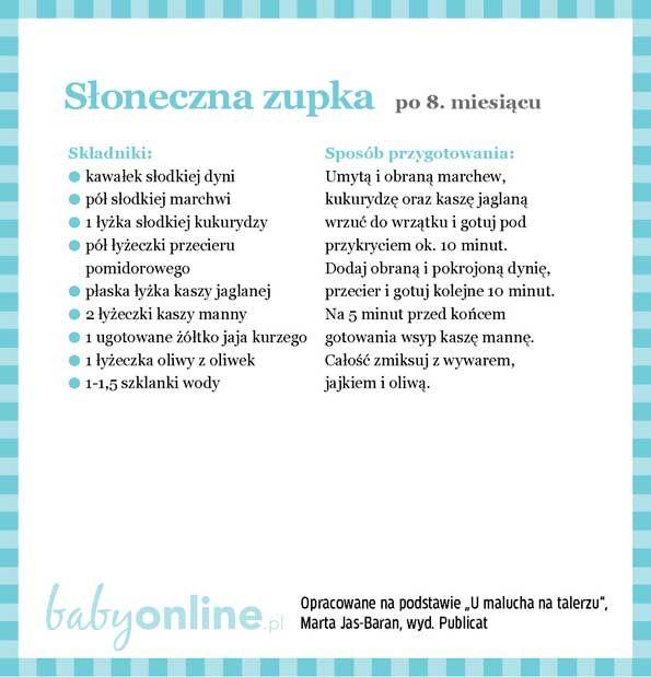 Przepisy dla niemowlaka - Zupki dla niemowlaka | Strona 15 | Baby online
