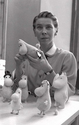 Tove Jansson and her marvellous moomins. Tove was a progressive lesbian fighting for social justice.