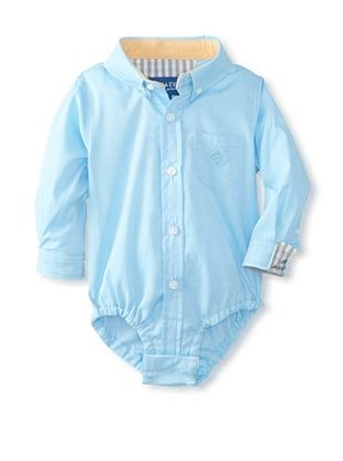 46% OFF Andy & Evan Baby Boy's Little S'Collar Shirtzie (Teal Twill)
