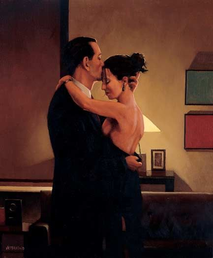 Jack Vettriano Betrayal – No Turning Back, 2001. Oil on canvas 24 x 20 inches. Sold. Exhibited: The International Art & Design Fair, New York