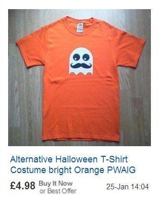 Halloween T-shirt Moustache vs. mustache vs. mustachio Paul Williams AIG Ghost