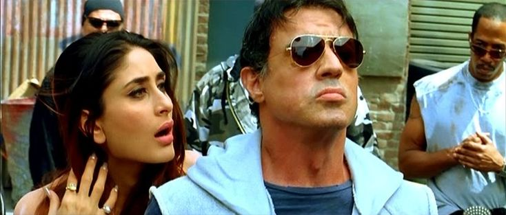 East Meets West: Sylvester Stallone and the Taming of the Shrew (Kambakkht Ishq) | Kareena Kapoor, Sylvester Stallone | http://www.fallinginlovewithbollywood.com/2015/10/east-meets-west-sylvester-stallone-taming-of-the-shrew-kambakkht-ishq.html