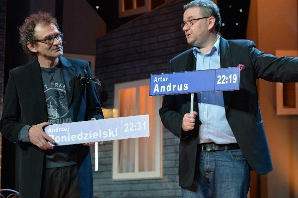 Gospodarzami szóstego odcinka byli Andrzej Poniedzielski i Artur Andrus (fot. I. Sobieszczuk/TVP)