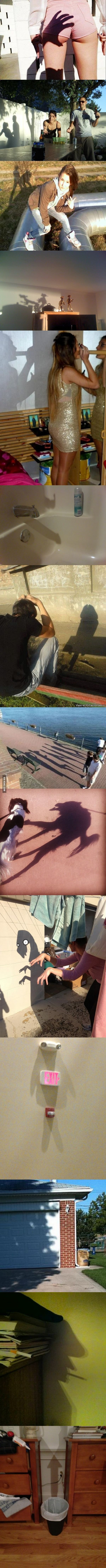 Sly Shadows...I can't stop laughing after seeing this. 12th is a face