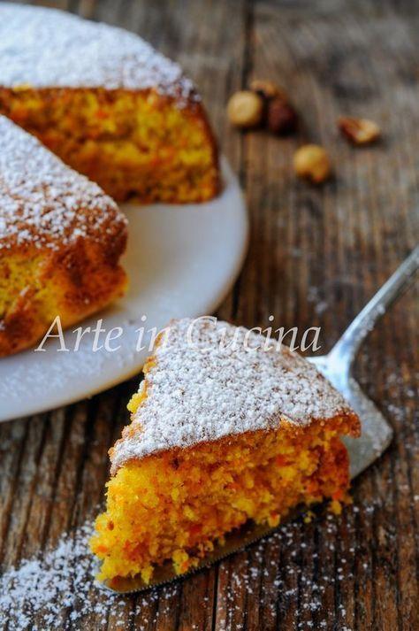 Torta carote e nocciole alla ricotta morbidissima vickyart arte in cucina