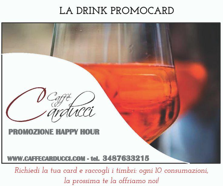 LA DRINK PROMOCARD: raccogli i timbri e dopo 10 consumazioni la successiva la offriamo noi! #caffècarduccirovigo