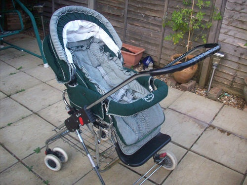 SILVER CROSS PRAM / PUSHCHAIR CHROME CHASSIS SWIVEL WHEEL & ACCESSORIES