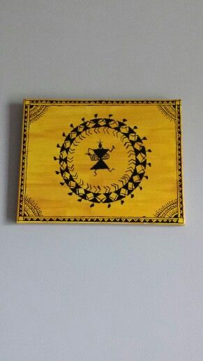 Warli circle of life :) painted this for my friend !