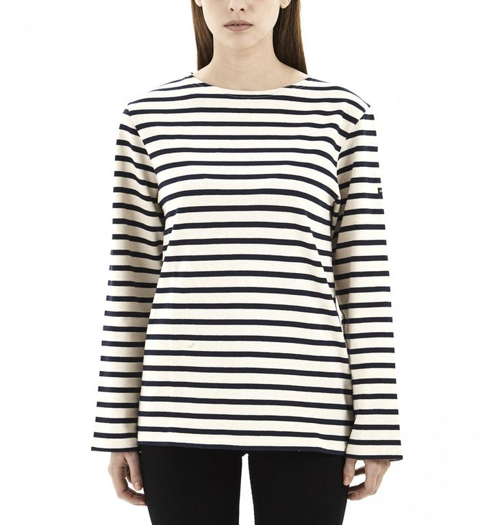 Ecru & Marine Striped Shirt