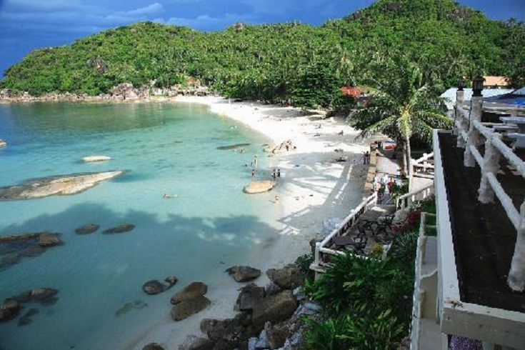 The view from Crystal Bay Resort's terrace.  The most beautiful beach in Koh Samui