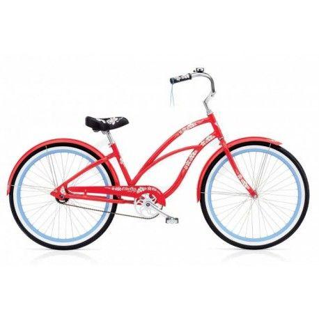 "Bicicleta Electra Hawai Lady roja 24"""