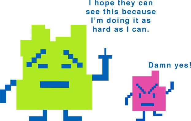 Ignignokt and Err the Mooninites -- Aqua Teen Hunger Force, love these guys