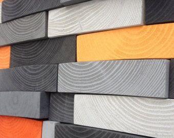 Abstract Wall Art - Reclaimed Wood Wall Sculpture - Wall Mosaic