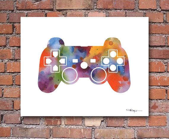 Game Controller-Art Print Abstract aquarel Wall Decor