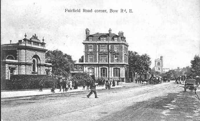 Fairfield Road junction Bow Road