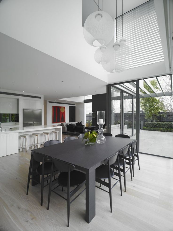 kitchen dining living outdoor layout  Beautiful Contemporary Residence in  Melbourne by Mim Design  www bedreakustik dk Dedicated to deliver superior. 18 best images about Minimalist Dining Room on Pinterest   Table