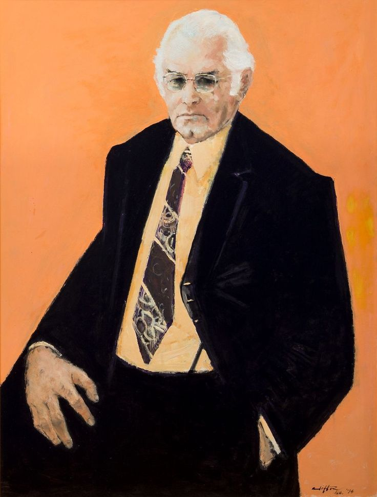 Clifton Pugh ~ Portrait of Clyde Cameron, 1976