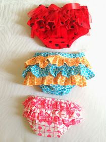 Sewing Patterns for Girls Dresses and Skirts: Ruffled Diaper Cover Sewing Pattern, Newborn to Two Years