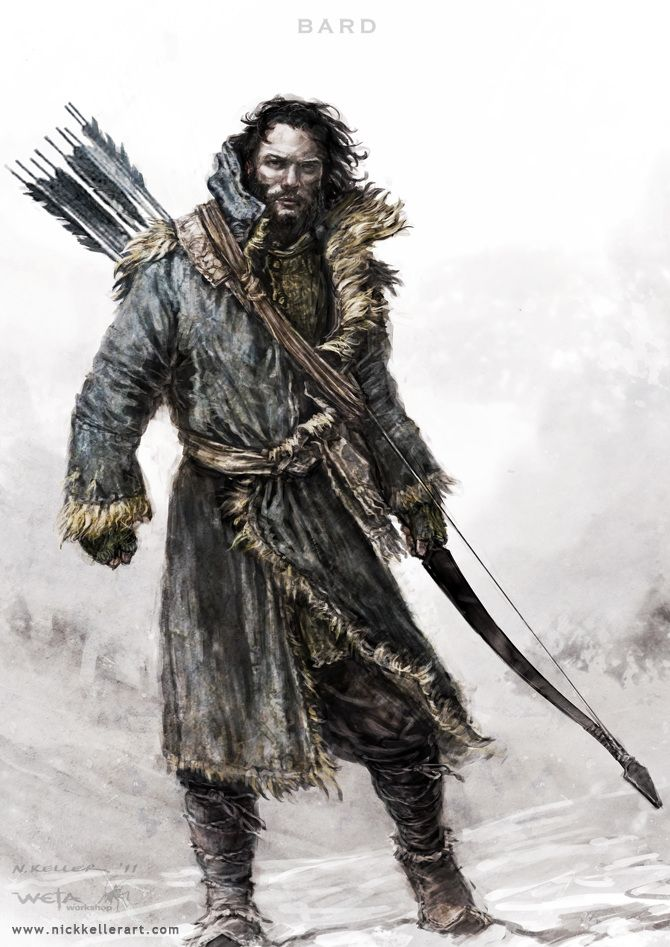 Bard - The Hobbit, part II - Concept design as seen in The Hobbit: The Desolation of Smaug, Chronicles: Art & Design and Smaug: Unleashing the Dragon - The Art of Nick Keller