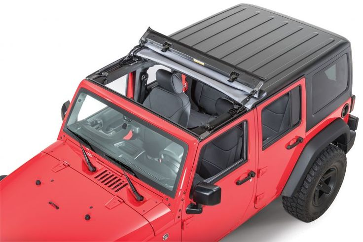 Bestop's JK Sunrider for Wrangler & Wrangler Unlimited Hardtops is soft top flair for a hard top vehicle.