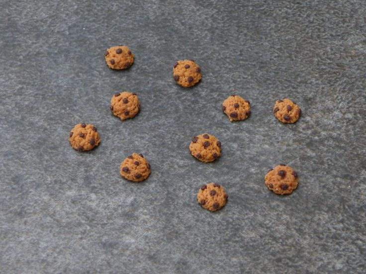 Cookie miniatures en fimo 5mm : Pâtes polymères et accessoires par jl-bijoux-creation