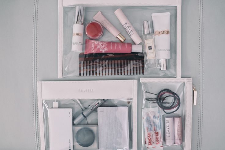 Gal Meets Glam Packing Organization with TRUFFLE Clarity Pouches and Clutches.
