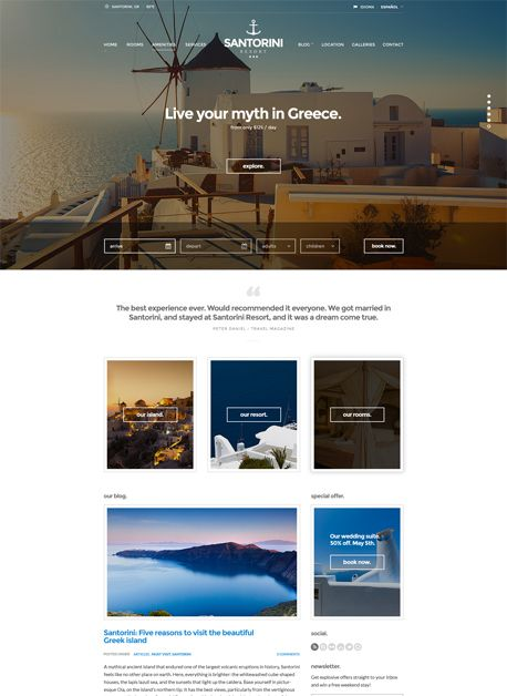 Santorini Resort - cssigniter.com