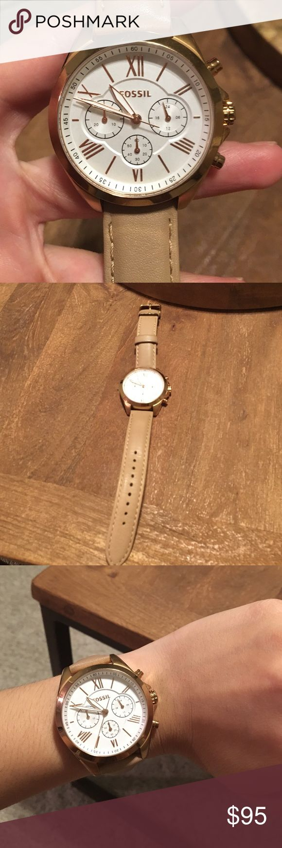 🔶LOWEST🔶FOSSIL GOLD/ROSE GOLD WATCH Great condition! A little too big for my taste Fossil Accessories Watches