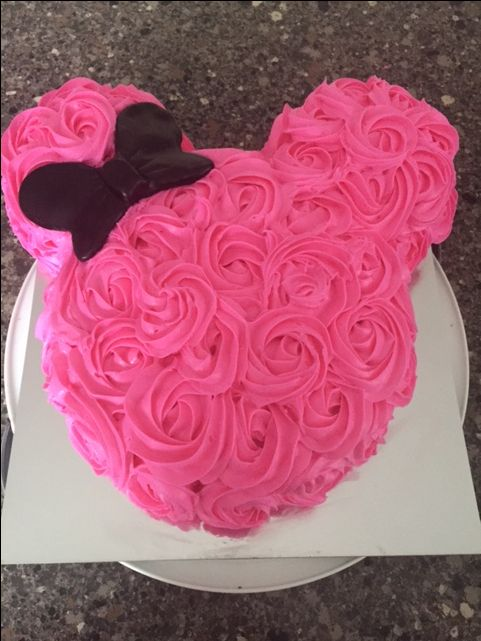 Minnie Mouse Rosette Cake More