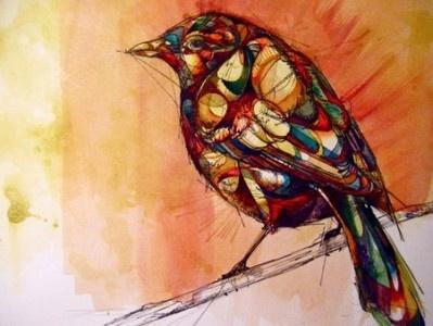 Abby Diamond es una ilustradora nacida en Pennsylvania y que este año ha terminado su último curso de estudios de arte en la universidad. En su blog podemos ver decenas de dibujos y acuarelas de animales pero se nota que a Abby le encantan las aves porque ha dibuja decenas de aves y las ha pintado con infinidad de colores con técnicas de acuarela.