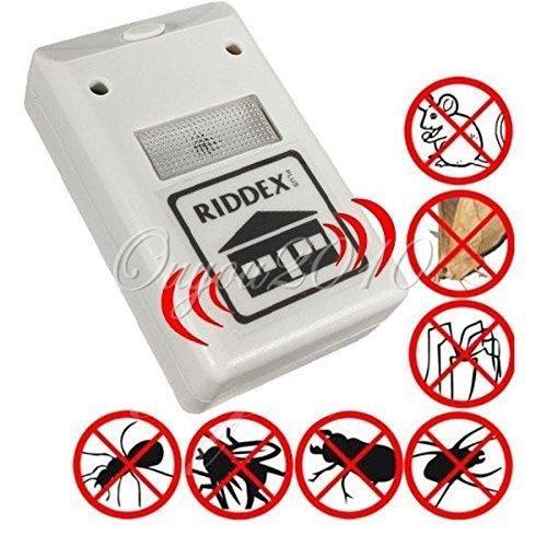 LinlyQueen New Applied Riddex Plus Electronic Ultrasonic Household Residential Pest Mouse Rodent JMHG Control Repeller 220V European plug White 220v
