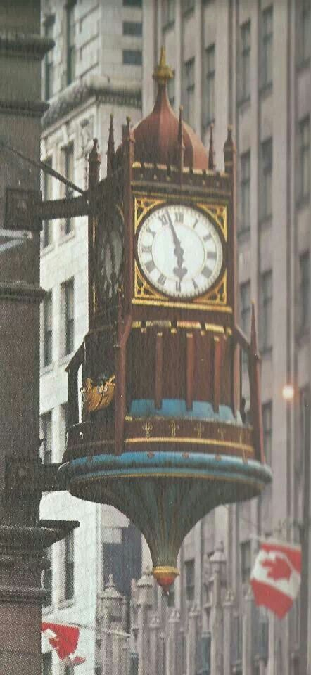 Birk's Clock...Hamilton. Now proudly refurbished and hanging in Hamilton market on York Street.