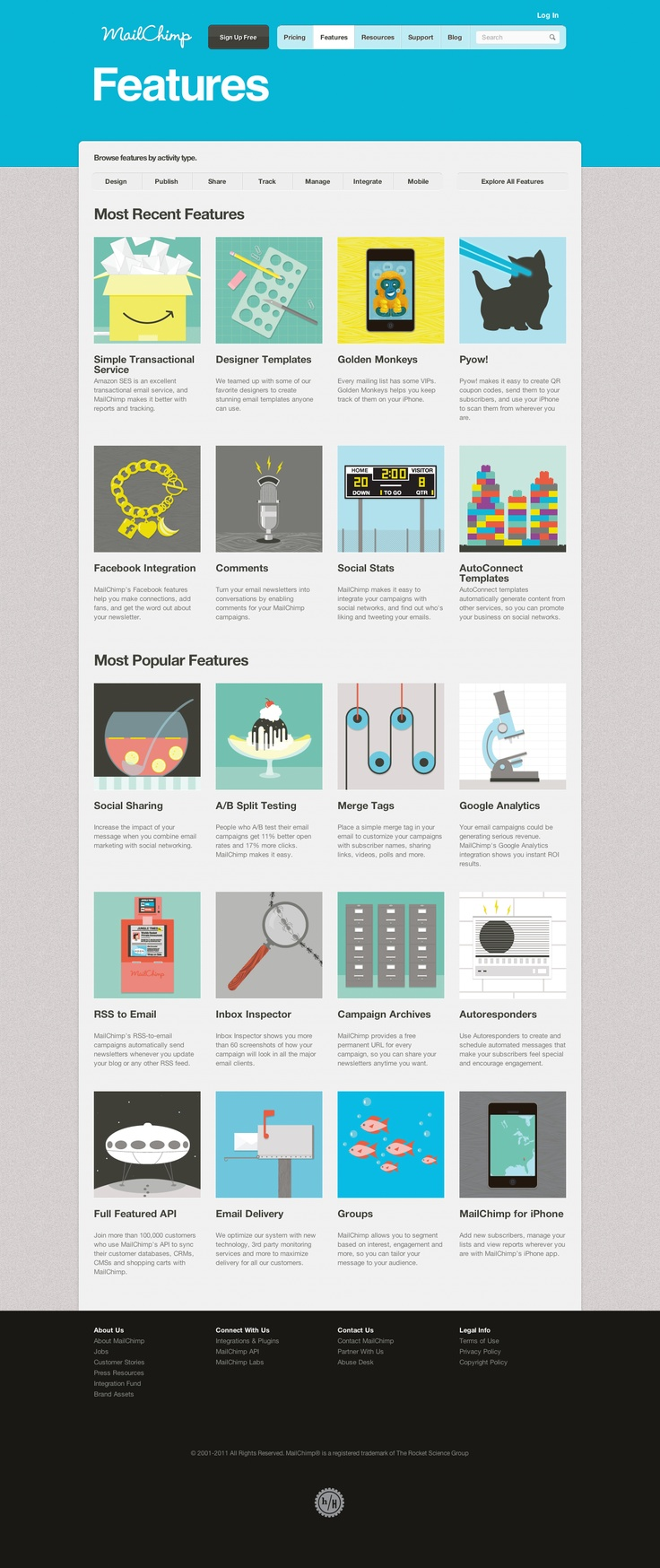 12 best design trends mailchimp images on pinterest design trends mailchimps features page fandeluxe Image collections