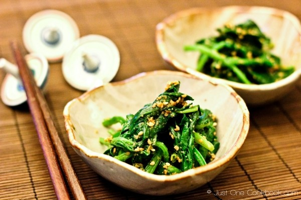 Spinach Gomaae (Spinach with Sesame Sauce)