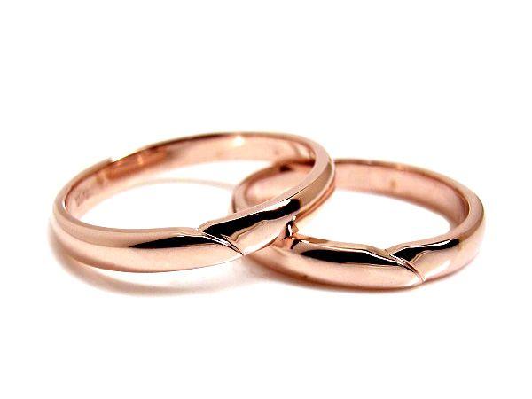 AMBRACE K18 pink gold ring stylish round 3mm ピンクゴールド ペアリング スタイリッシュ ラウンド