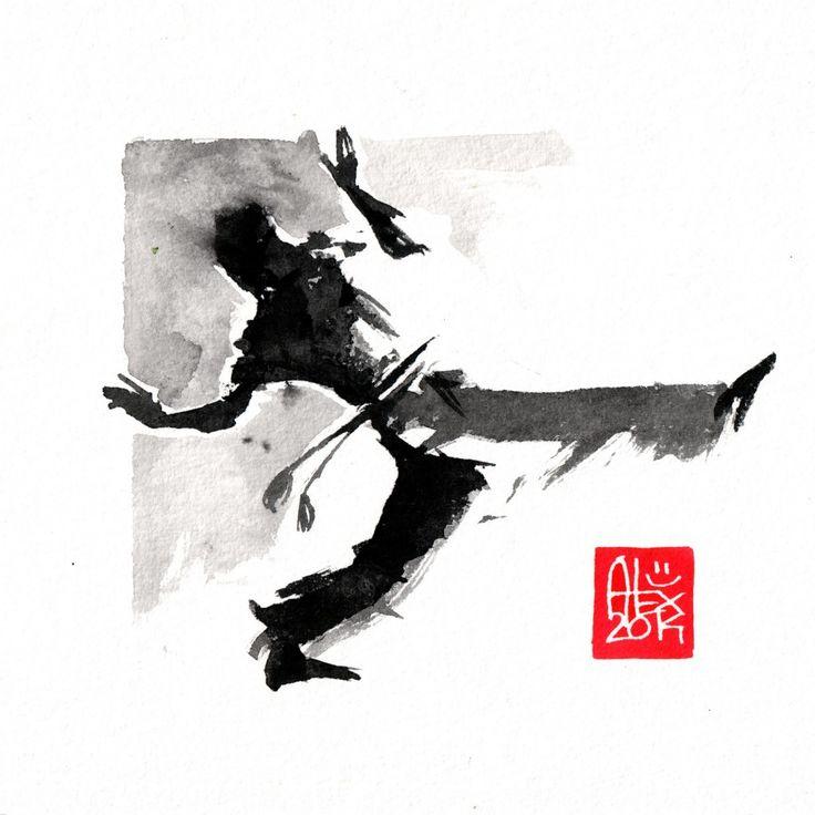 Illustration : Capoeira – 700 [ #capoeira #watercolor #illustration]