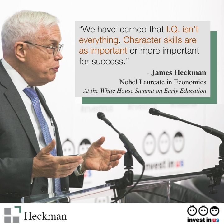 I.Q. isn't everything. Watch Professor Heckman's speech from the White House Summit on Early Education here: http://bit.ly/1Ise4Ya: