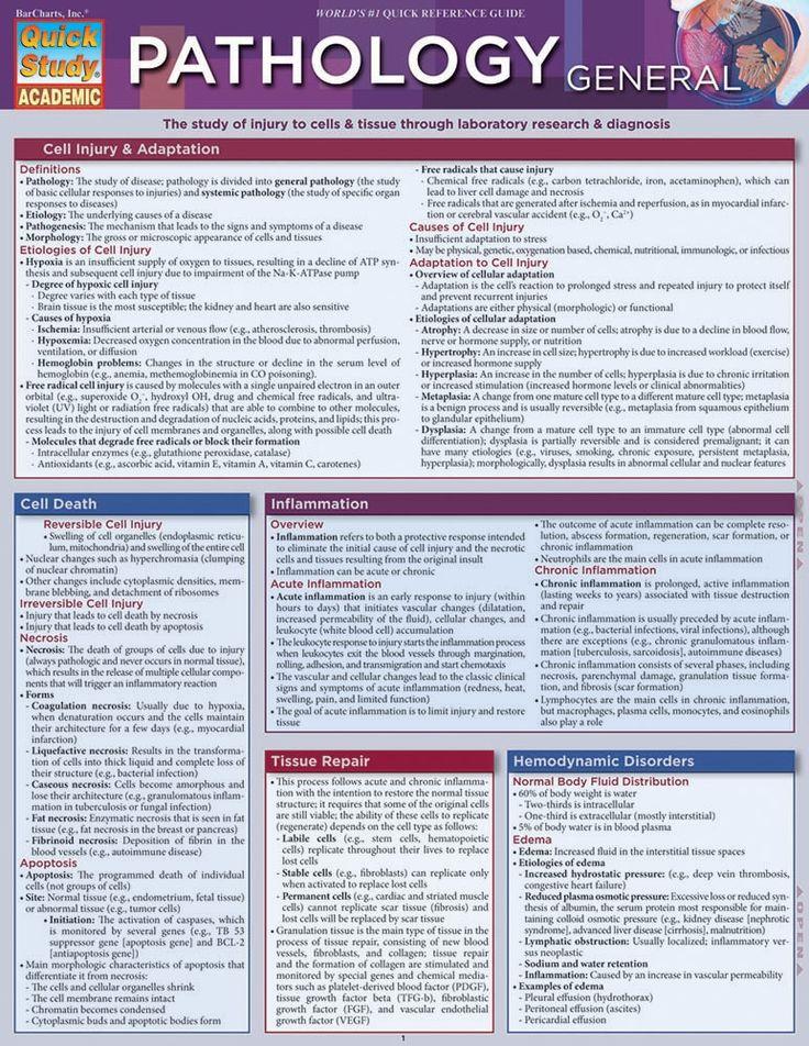 Pathology General Laminated Study Guide (9781423216568