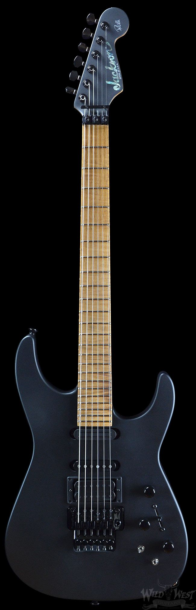 Jackson Custom Shop Limited Edition Phil Collen Flat Black PC-1 | Electric Guitars | Wild West Guitars