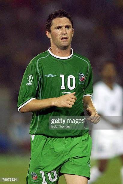 Football 2002 FIFA World Cup Finals Yokohama Japan 11th June 2002 Saudi Arabia 0 v Republic of Ireland 3 Robbie Keane Ireland