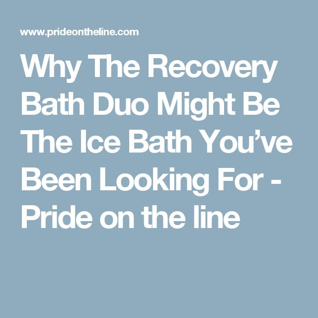 Why The Recovery Bath Duo Might Be The Ice Bath You've Been Looking For - Pride on the line