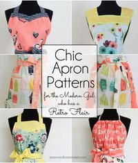 Aprons make great gifts for all sorts of occasions. I've created several apron designs that include both retro apron patterns and a modern apron patterns. Apron patterns designed for everyone.
