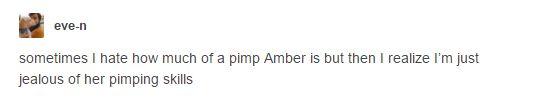 PIMPBER!! -- amber pimp pimpber f(x) funny tumblr post