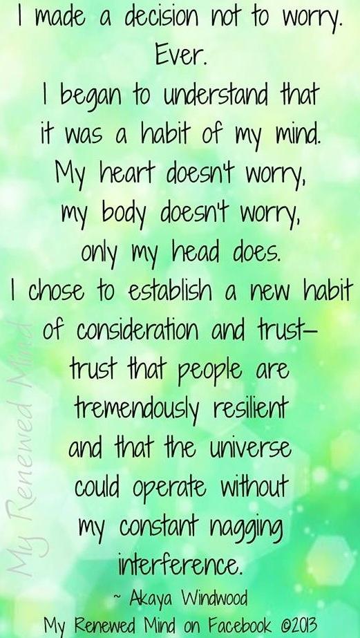 Don't worry quotes via www.MyRenewedMind.org